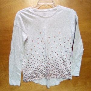 2/$5 Girls size 14 long sleeve shirt.